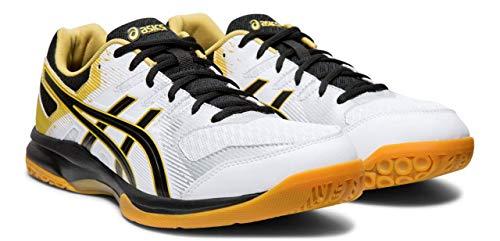 7dc4dbf61 ASICS Gel-Rocket 9 Men's Volleyball Shoes, White/Black, 11 M US