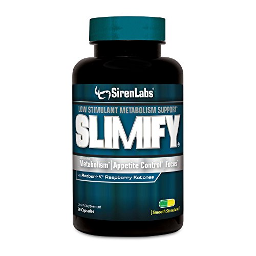 Siren Labs SLIMIFY Boost Metabolism, Decrease Appetite and Improve Focus With Slimify with Raspberry Ketones - 90 Capsules by SirenLabs
