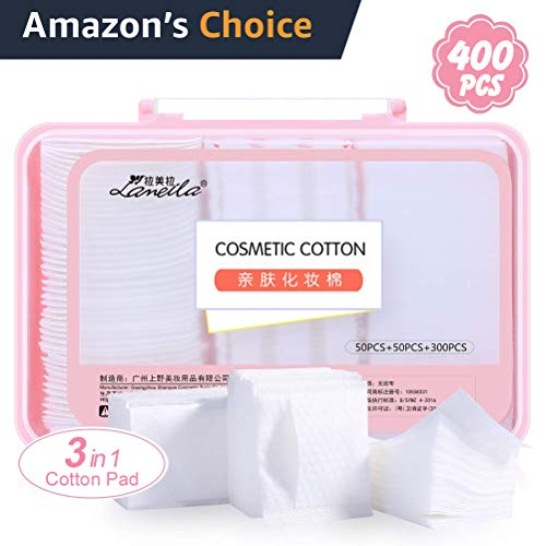 - Cotton Squares Pad Makeup Removal Pad Cotton Soft Lint Free Cotton Pads Makeup Face Cleansing Pad Facial Toner Pads 400PCS