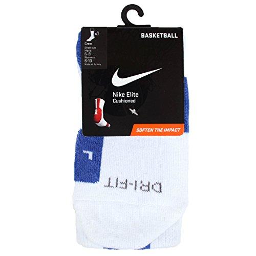 Nike ELITE 2.0 CUSHIONED BASKETBALL CREW SOCK WHITE GAME ...