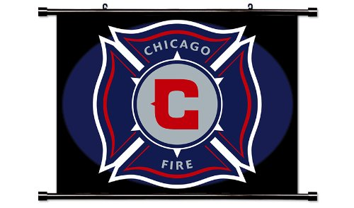 Chicago Fire MLS Soccer Fabric Wall Scroll Poster (32 x 24) Inches