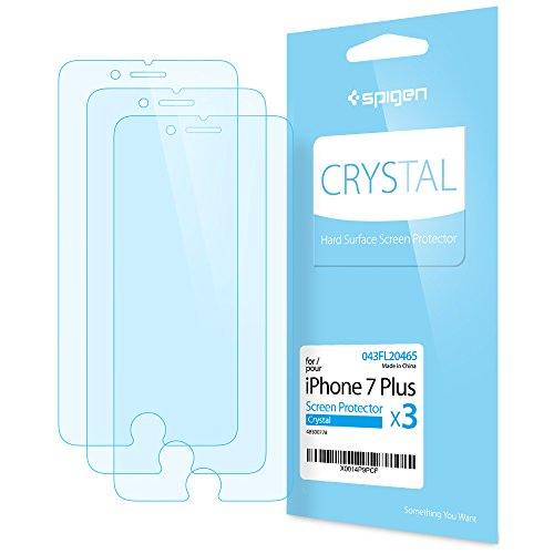 Spigen Crystal Clear iPhone 7 Plus Screen Protector with Crystal Film 3 Pack for iPhone 7 Plus
