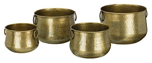 Regal Art & Gift Planter (Set of 4), Hammered Brass by Regal Art & Gift