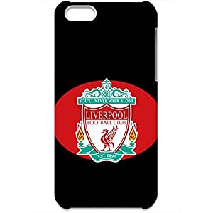 Blck Backgroud LiverpoolFootball Club Logo Neweast Style 3D Multicolored Hard Plastic Phone Case for Iphone5C