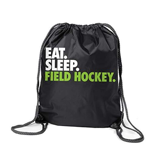 (ChalkTalkSPORTS Field Hockey Sport Pack Cinch Sack | Eat Sleep Field Hockey | Black)