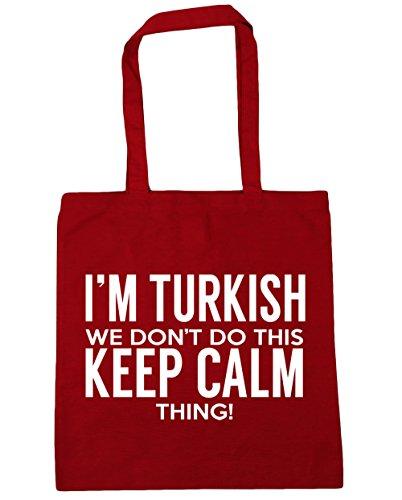 HippoWarehouse I 'm turco que no hacer esto lo Keep Calm bolsa de la compra bolsa de playa 42cm x38cm, 10litros Classic Red