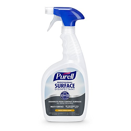 PURELL Professional Surface Disinfectant Spray 32 oz – Kills Norovirus in 30 Seconds, Fresh Citrus, RTU (Pack of 3)