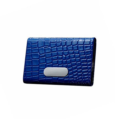 Hinged Flash Attachment (YJYdada Crocodile Pattern Credit Card Package Card Holder Business Card Case (Blue))
