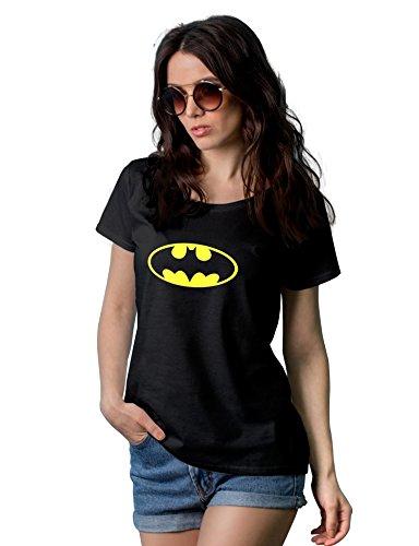 Classic Bat Logo Women t-Shirt | Black, XXL -