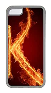 iPhone 5C Cases & Covers -Fire letter K Custom TPU Soft Case Cover Protector for iPhone 5C ¨CTransparent