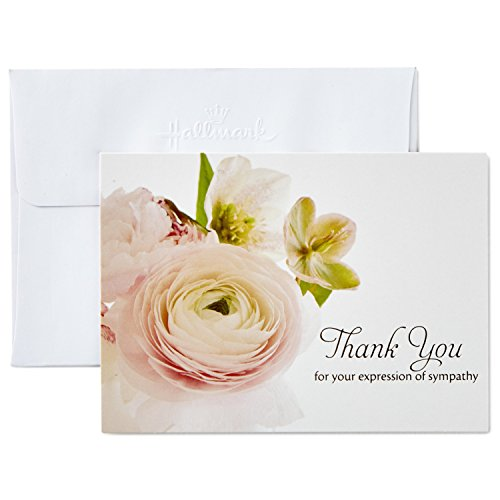 Hallmark Thank You for Your Sympathy Cards, Soft Bouquet (20 Note Cards with Envelopes)