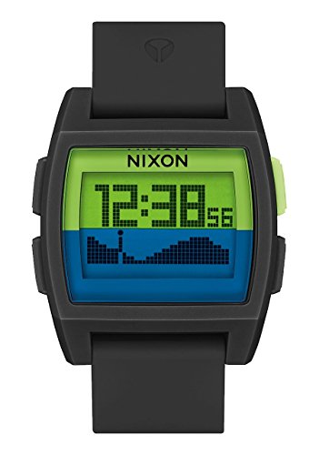 Nixon The Base Tide Watch, Black/Green/Navy