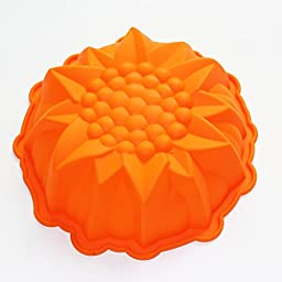9inch Round Flower Cake Baking Silicone Mold Cake Decorating Dessert Pan X-Haibei