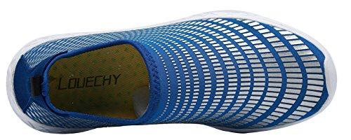LOUECHY Unisex Fiskin Quick-Dry Wasserschuhe Leichte Strandsandalen Atmungsaktive Sommer Wanderschuhe Blau