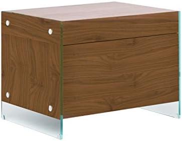 Casabianca Furniture II Vetro Collection Veneer Nightstand/End Table