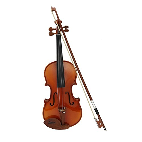 Lujex Quarter 1/4 Size Solid Wood Violin for Beginners Kids Children (1/4) by Lujex