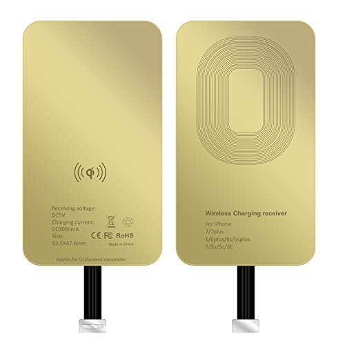 ASAKUKI iPhone Wireless Charging Receiver by, Ultra-Thin Copper Coil Patch With Overvoltage Protection For Qi Wireless Charging Pads - Smart & Fast Microchip Technology For Apple Smartphone Devices