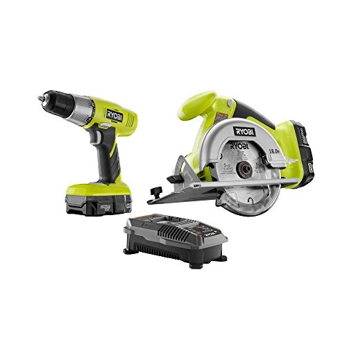 120v Circular Saw Kit - RYOBI ONE+ 18-Volt Lithium Ion Drill Driver and Circluar Saw Combo Kit P826