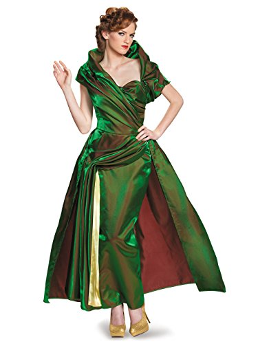 Disguise Women's Lady Tremaine Movie Adult Prestige Costume, Green, Large