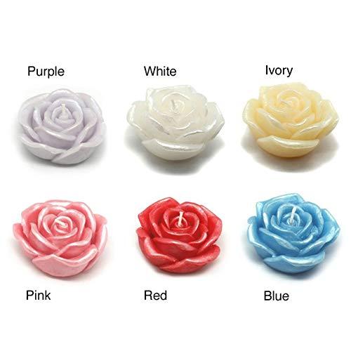 Jeco Inc. 3'' White Rose Floating Candles (144pcs/Case) Bulk