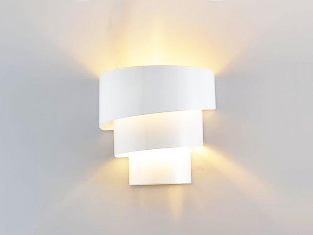 LightInTheBox Modern/Contemporary Wall Sconces Painting Finish Wall Light Metal Lighting Fixture Mini Night Light for Bedroom Hallway Staircase Garden Wall E26/E27 Bulb Base 110-120V (White)