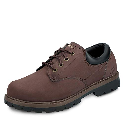 Skechers Mens Toric Bereno Chocolate Brown Lace Up Lightweight Shoes
