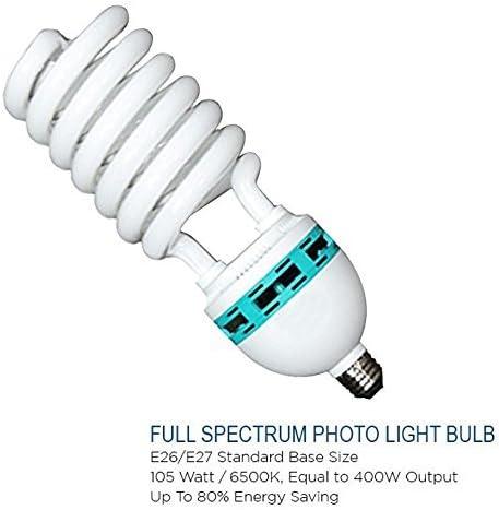 LMS702 LimoStudio 400 Watt Photo Studio Softbox Lighting Kit 22 Black Silver Octagonal Soft Box Reflector Light Kit with 86 Light Stand