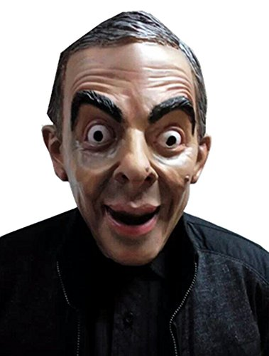 MostaShow Mr.Bean Latex Full Head Cosplay Costume Halloween Masks Adult Costume for $<!--$23.90-->
