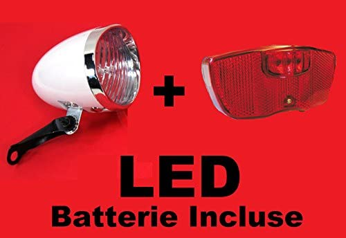Juego de faro luz delantera Faro trasero para bicicleta LED de ...