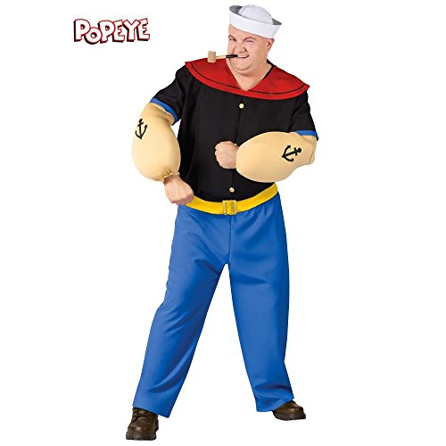 [Popeye Costume - Plus Size - Chest Size 48-53] (Popeye Costumes)