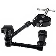 Fomito 11 inch Articulating Magic Arm+Large Super Clamp Large Crab Pliers Clip for DSLR Rig Camera to Monitor LED