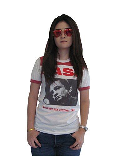 Bunny Brand Women's Johnny Cash Tour 1964 Music Festival Ringer T-Shirt (Small)