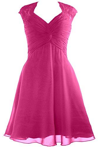 Bridesmaid Cap Chiffon 2017 Short Dress Sleeve Lace Women Begonia Dress Cocktail MACloth nz1UBA1