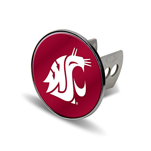 - Rico NCAA Washington State Cougars Laser Cut Metal Hitch Cover, Large, Silver