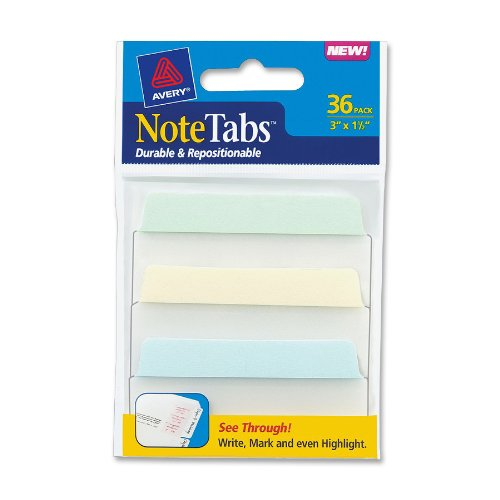 Avery NoteTabs Inches Pastel 16300