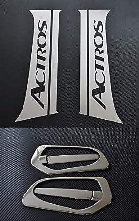 ESK - Decoración para alféizar de Ventana de Acero Inoxidable + Cubierta para manija de Puerta para Camiones Actros MP4