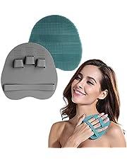 INNERNEED Food Grade Silicone Body Brush Soft Bristles Shower Exfoliating Scrubber Gentle Scrub Bathing Glove Skin Care
