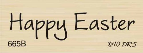 - One Line Happy Easter Rubber Stamp By DRS Designs