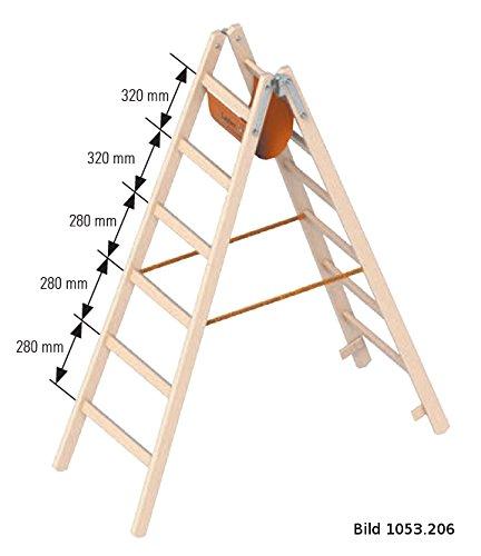 Layher Holzleiter Stehleiter nach /Ö-Norm 1053 5 Sprossen Arbeitsh/öhe 2,80 m