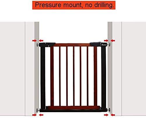 PNFP Puertas for bebés Puertas metálicas for Puertas de escaleras, compuerta for Perros con presión Puerta for Mascotas con Puerta de Madera, 65-79 cm de Ancho (Color : A, Size : 65-72CM):