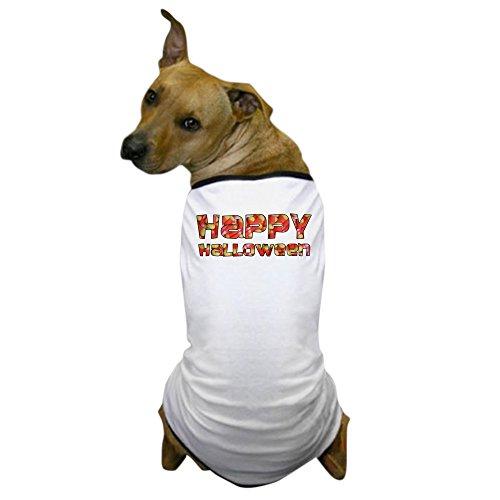 CafePress - Corny Happy Halloween Dog T-Shirt - Dog T-Shirt, Pet Clothing, Funny Dog (Corny Dog Costume)