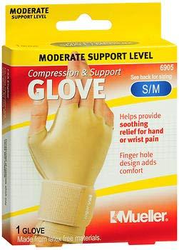 Mueller Compression & Support Glove SM/MD 6905-1 Glove, Pack of 3