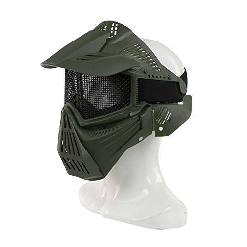 haoYK Tactical Airsoft Mesh Protective Full Face Mask for Military...