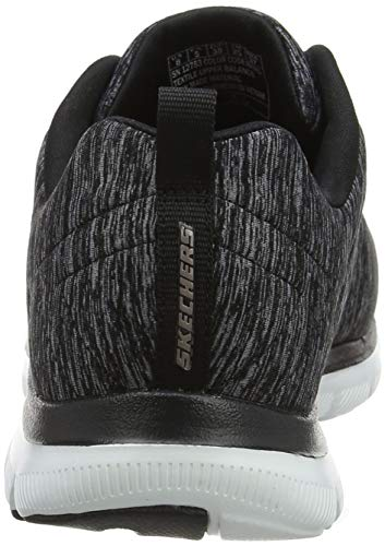 Skechers Rose 0 Appeal 2 Women's Flex Black Sneaker Gold g1rqSgwx