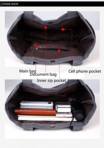 Tela Tracolla In Tote E brown Borsa La Wanforjewellery Pieghevole Per Da Spesa Con Viaggio Brown Donna BvgqO8qM6K