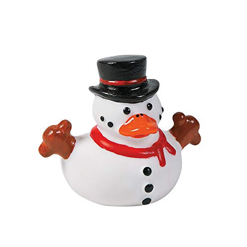 Fun Express - Snowman Rubber Duckies for Christmas - Toys - Character Toys - Rubber Duckies - Christmas - 12 Pieces]()