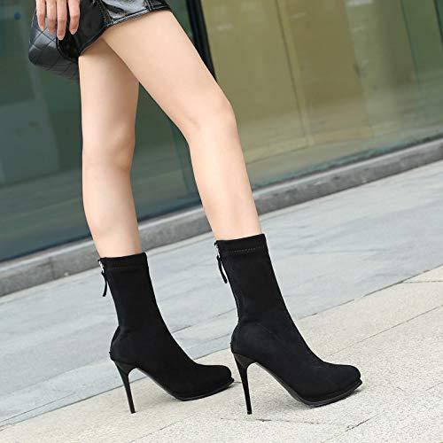 Chaussures Kphy Court Minces Pointue Tube Bottestête Femmes FRqAPnrR