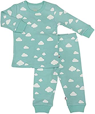 Babysoy Long Sleeve Unisex Lounge Set Organic 2-Piece PJ Playwear Sets for Baby and Toddler