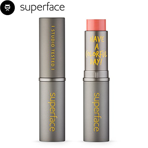 Lipstick Multi Lightful Stick [superface] Lip Cheek Makeup Eye Shadow Shading Shadow Lightweight Long Lasting Blendable Cream Blusher Natural Look Easy Application- Stay Super (Coral)