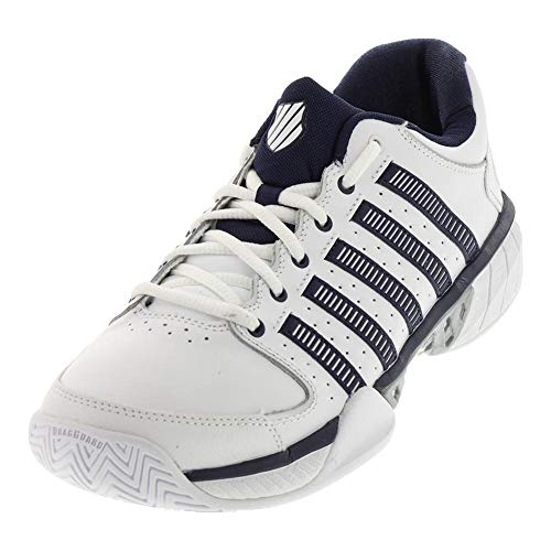 ( K-Swiss Hypercourt Express LTR Mens Tennis Shoes (White/Navy/Silver) (10.5 D(M) US))